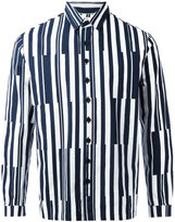 Sunnei printed stripe shirt - men - Cotton - S