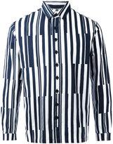 Sunnei printed stripe shirt