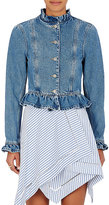 J.W.Anderson Women's Denim Ruffle Jacket