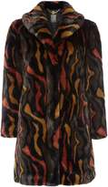 Biba Abstract faux fur portobello coat
