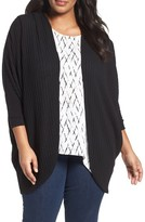 Sejour Plus Size Women's Ribbed Dolman Cardigan