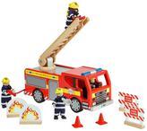 Baby Essentials TIDLO Wooden Fire Engine