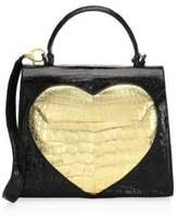 Nancy Gonzalez Medium Crocodile Lily Heart Tote
