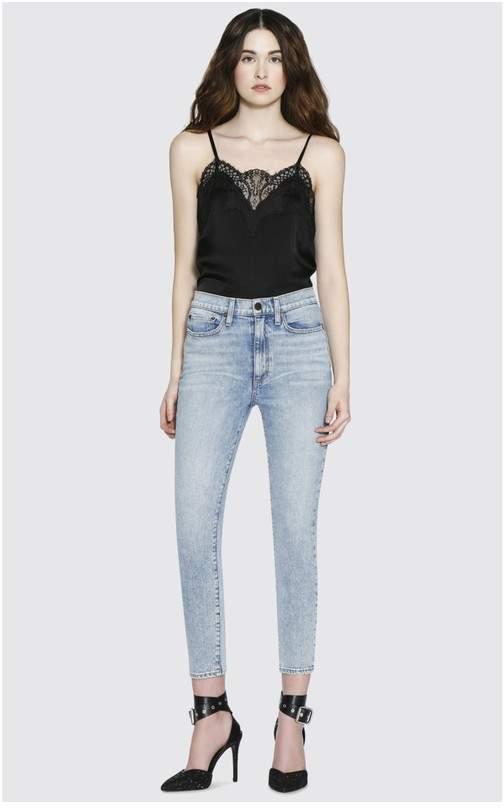 Alice + Olivia Good Mid Rise Skinny Jean