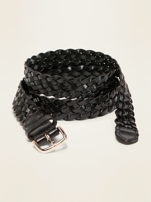 """Old Navy Braided Faux-Leather Belt for Women (1"""")"""