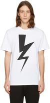 Neil Barrett White One Thunder T-Shirt