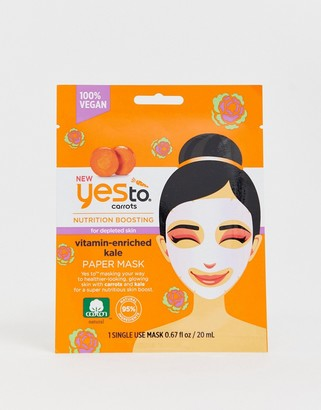 Yes To Carrot & Kale Nutrition Boosting Paper Mask (Single Use)-No Color