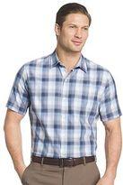Van Heusen Big & Tall Classic-Fit Plaid Textured Button-Down Shirt
