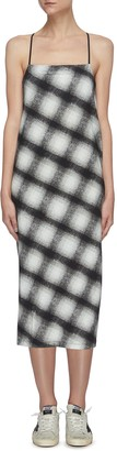 Ninety Percent Brushed check print slip dress