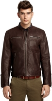 Brooks Brothers Leather Motorcycle Jacket
