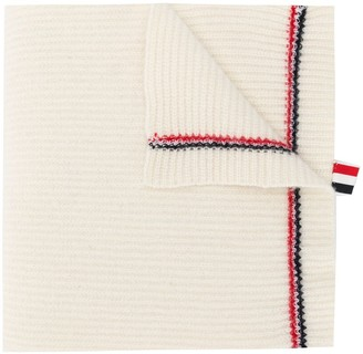 Thom Browne RWB-stripe knitted scarf