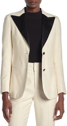 SUISTUDIO Jay Silk Blend Peak Lapel Tuxedo Jacket