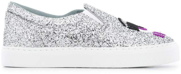 Chiara Ferragni I see you slip-on sneakers