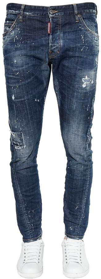 DSQUARED2 16cm Sexy Twist Denim Jeans W/ Bandana