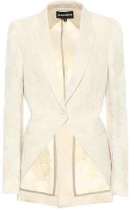 Ann Demeulemeester Cavalier floral-jacquard blazer