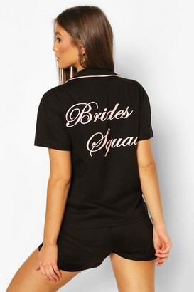 boohoo Brides Squad Jersey PJ Short Set