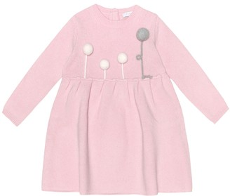 Il Gufo Baby embroidered wool dress