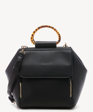 Sole Society Women's Hallie Satchel Faux Leather In Color: Black Bag From