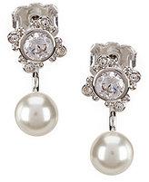 Nadri Joan Cubic Zirconia Pearl Front/Back Earrings