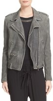 The Kooples Women's Crackled Suede Moto Jacket