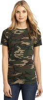 District Made Women's Perfect Weight Camo Crew Tee S