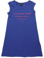 Little Marc Jacobs Laure C Dress (Big Kids) (Pure Blue) - Apparel