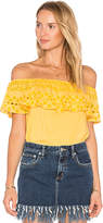 Sanctuary Misha Eyelet Top in Yellow. - size L (also in M,S,XS)