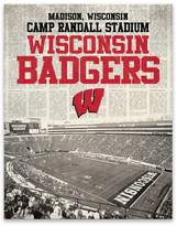 "NCAA Newspaper Stadium Printed Canvas Art - 22""x28""x1.25"""