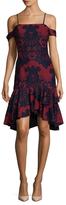 Alexia Admor Lace Embroidered Flare Dress