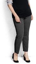 Classic Women's Plus Size Slim Leg Tuxedo Pants-Tummy Control-Dark Gray
