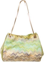 Missoni Leather-Trimmed Woven Bag
