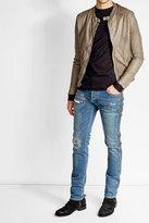 Giorgio Brato Collarless Leather Jacket