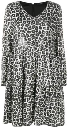 Steffen Schraut Leopard Sequin Shift Dress