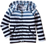 Splendid Littles Striped Dip Dye Indigo Zip-Up Hoodie Boy's Sweatshirt