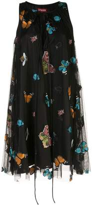 STAUD Tulsi embroidered butterfly dress