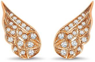 Pragnell 18kt rose gold diamond Tiara earrings