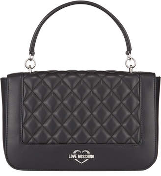 Love Moschino Quilted Top Handle Satchel Bag