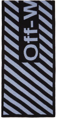 Off-White Black and Blue Arrows Scarf