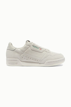 adidas Continental 80 Leather-trimmed Suede Sneakers - Off-white
