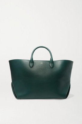 KHAITE Envelope Pleat Medium Leather Tote - Green
