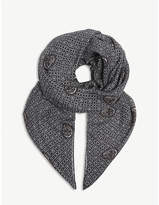 The Kooples Skull print modal scarf