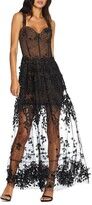 Dress the Population Anabel Sweetheart Bustier Lace Gown