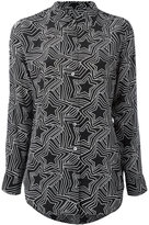 Equipment star print shirt - women - Silk - M