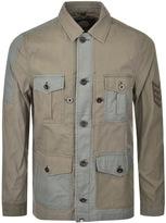 Pretty Green Grosvenor Overshirt Jacket Khaki