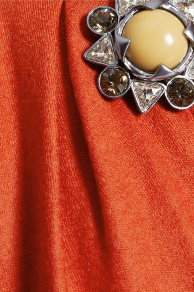 Roberto Cavalli Embellished Wool Mini Dress