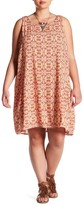 Bobeau Trapeze Tie Pattern Dress (Plus Size)