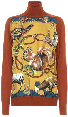 Dolce & Gabbana Printed cashmere and silk sweater