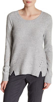 T Tahari Shay Mixed Knit Sweater