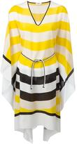 Fendi Waves kaftan dress - women - Silk - One Size