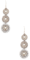 Miguel Ases Triple Pearl Disc Drop Earrings